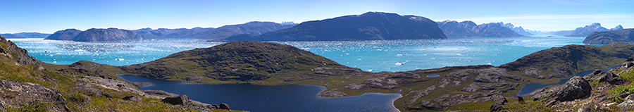 View from a field site (Nuuk Fjord, Greenland, July 2013, photo-copyright: Urs A. Treier)